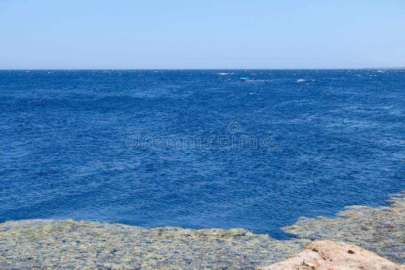 Costa azul do furo no Mar Vermelho, Sinai fotografia de stock