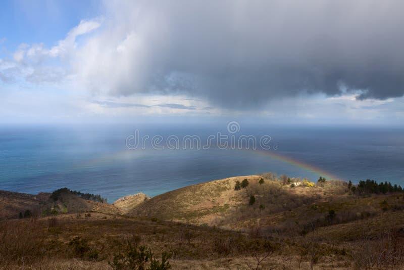 Costa basca, Francia, Spagna fotografia stock libera da diritti