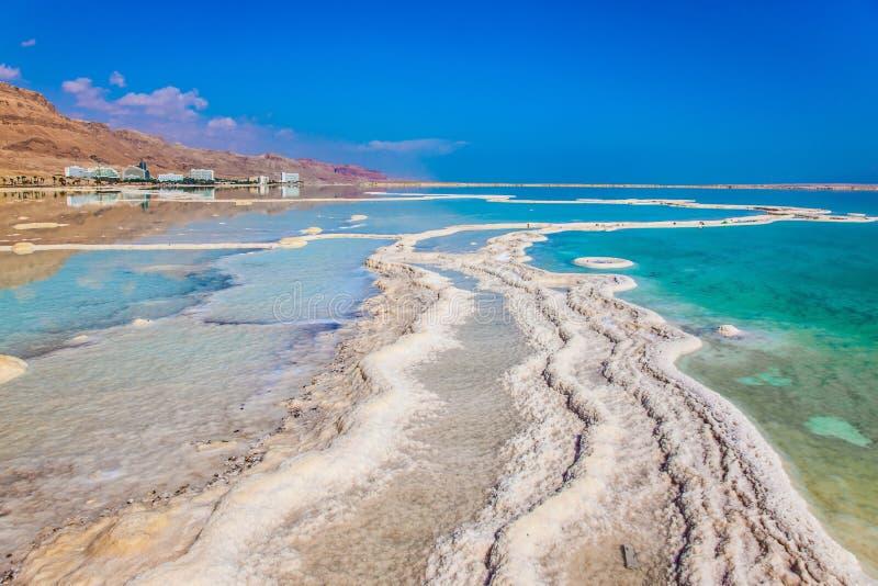 Costa bassa del mar Morto fotografia stock libera da diritti