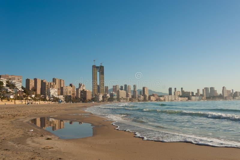 Costa Blanca. Resort of Benidorm, Alicante, Spain royalty free stock photos