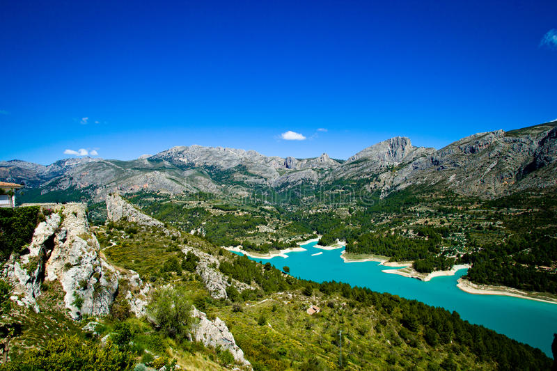 Costa Blanca Guadales. View on the Guadales Costa Blanca royalty free stock photos