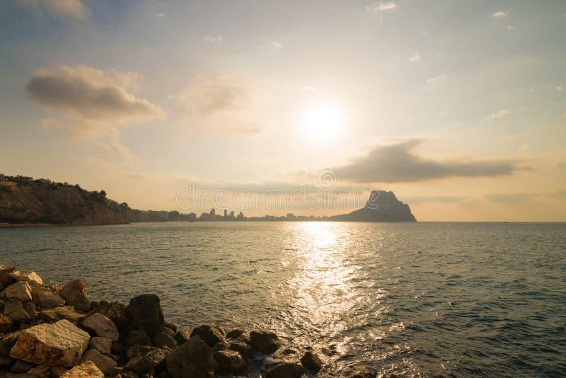 Costa Blanca landscape stock image