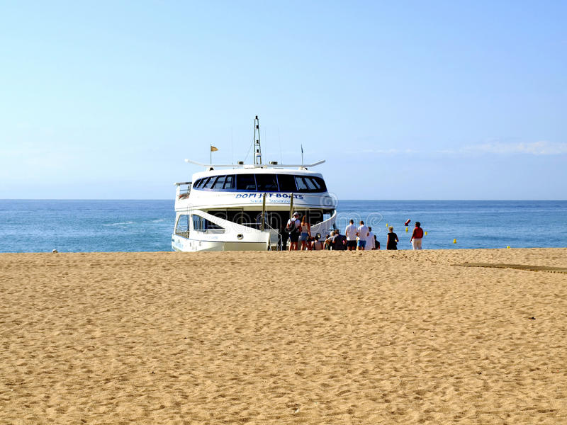 Costa Brava Ferry chez Malgrat De mars, Espagne. image stock