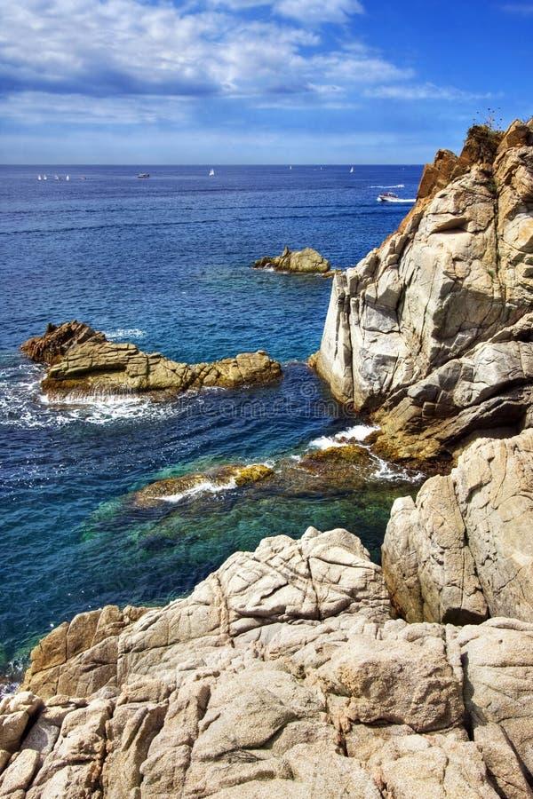 Costa Brava landscape near Blanes, Spain. royalty free stock images