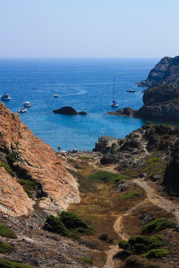 Costa Brava, Mediterranean. Spain stock image