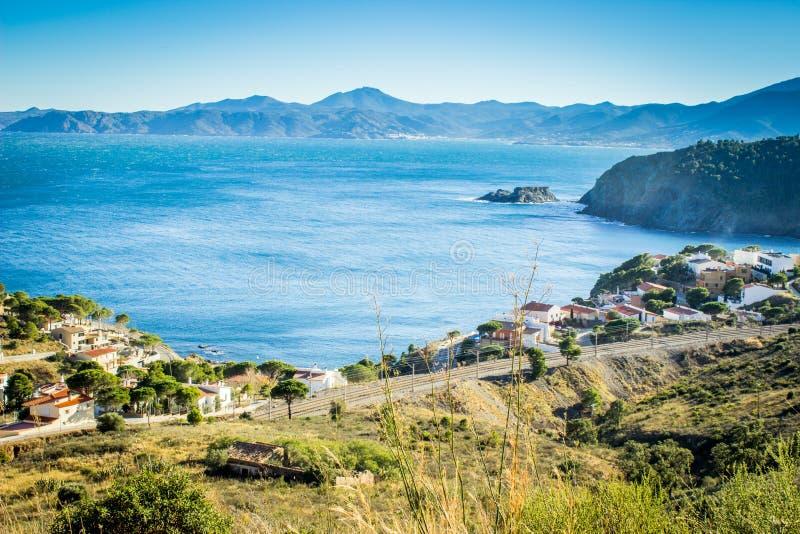 Costa Brava, portbou, Spanje royalty-vrije stock fotografie