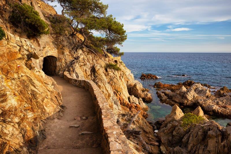 Costa Brava Seaside Trail in Spain royalty free stock photos