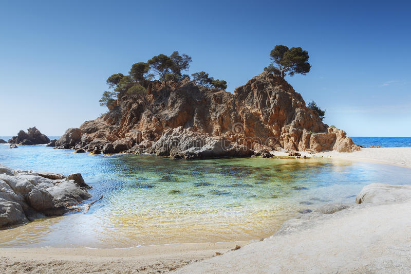 Costa Brava strand, Catalonia, Spanien royaltyfria bilder