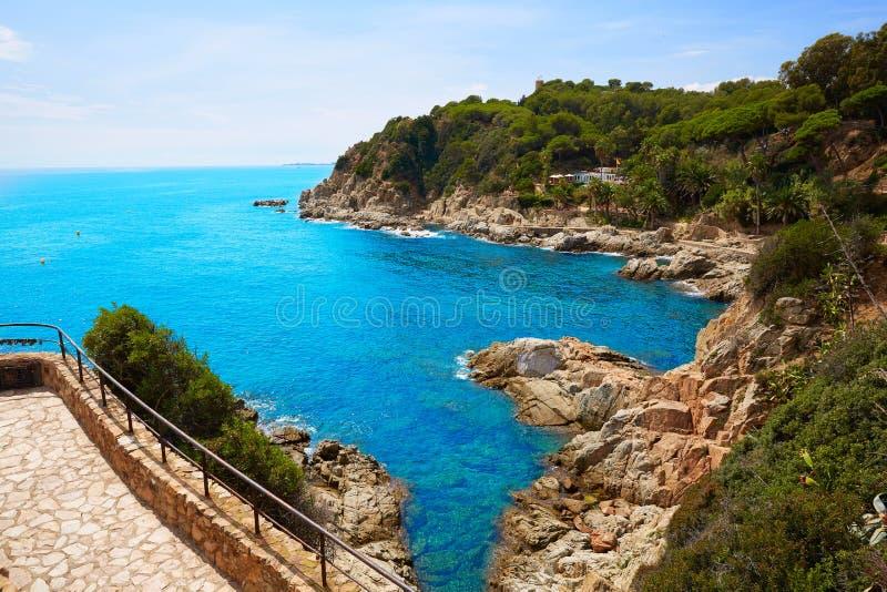 costa brava strand lloret de mar cataloni spanje stock foto afbeelding bestaande uit strand. Black Bedroom Furniture Sets. Home Design Ideas