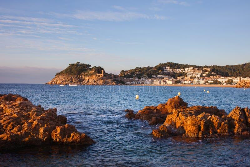 Costa Brava at Sunrise in Spain royalty free stock photos