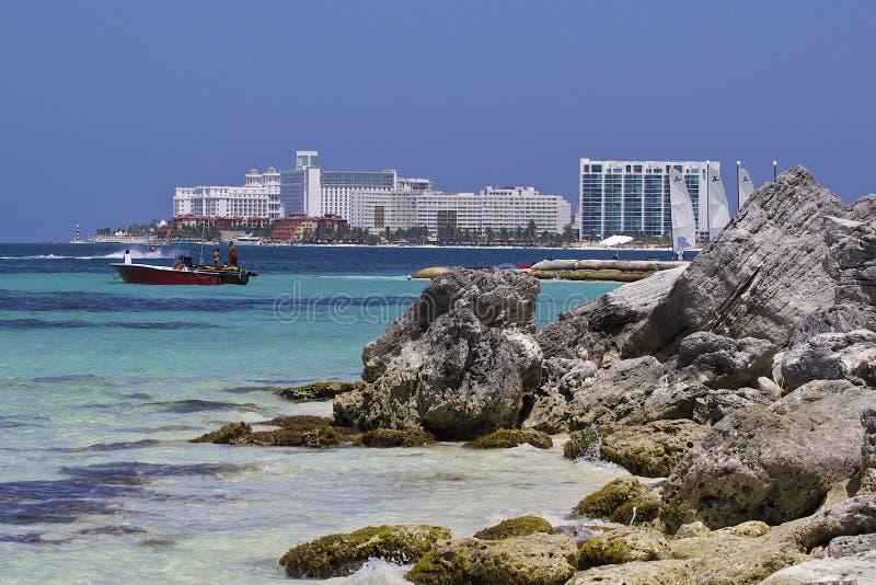 Costa in Cancun, Messico immagine stock libera da diritti