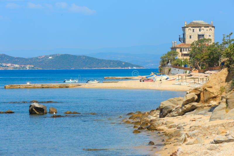 Costa Chalcidice, Grecia de Ouranoupoli imagen de archivo
