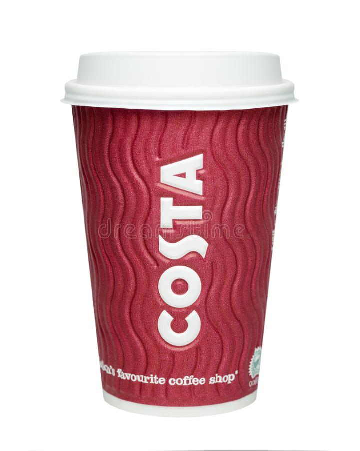 Costa Coffee Cup stock images