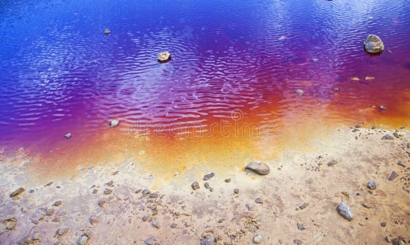 Costa colorida do lago fotografia de stock royalty free