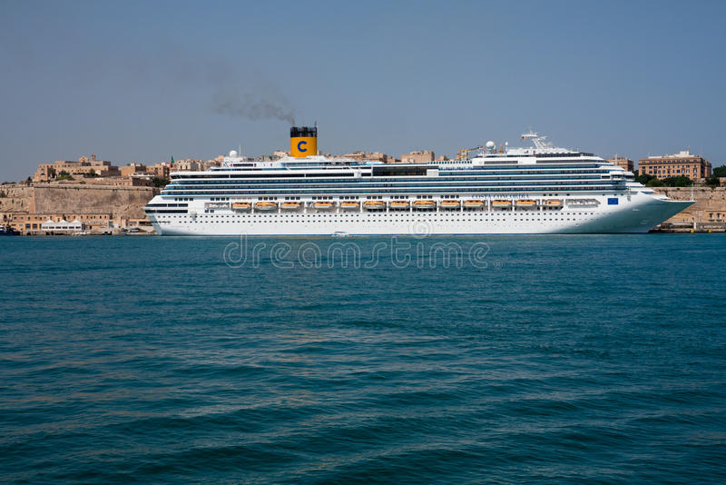 Costa Concordia cruise ship royalty free stock image