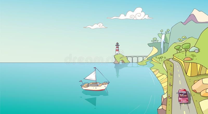 Costa costa stock de ilustración
