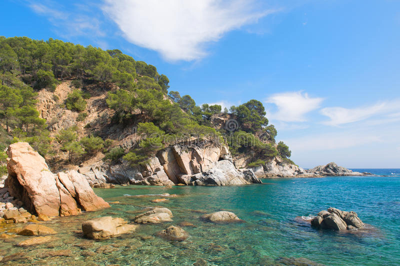 Costa Costa Brava na Espanha imagens de stock