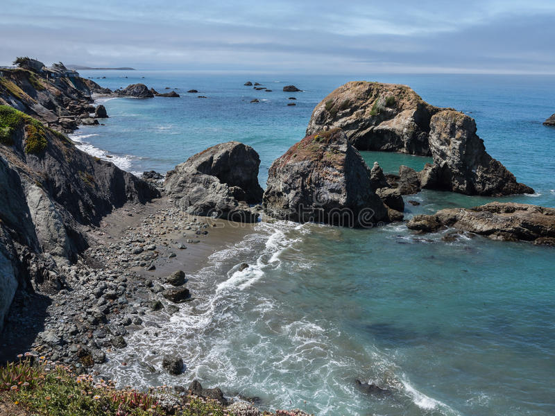 Costa costa de California septentrional foto de archivo libre de regalías