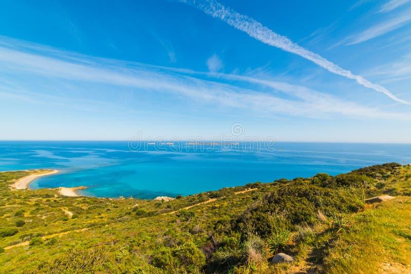 Costa costa de Cerdeña en primavera imagen de archivo libre de regalías