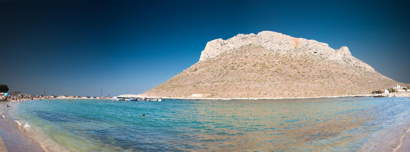 Costa costa de Crete - Stavros foto de archivo