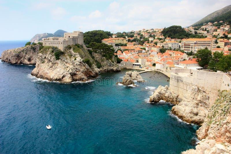 Costa costa de Dubrovnik foto de archivo