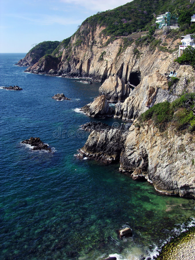 Costa costa de la ciudad de Acapulco imagen de archivo libre de regalías