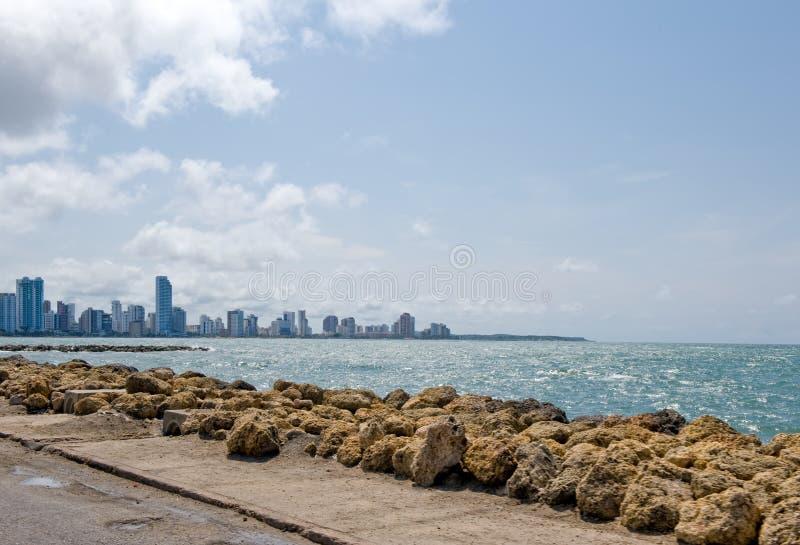Costa costa de la ciudad de Cartagena fotos de archivo libres de regalías