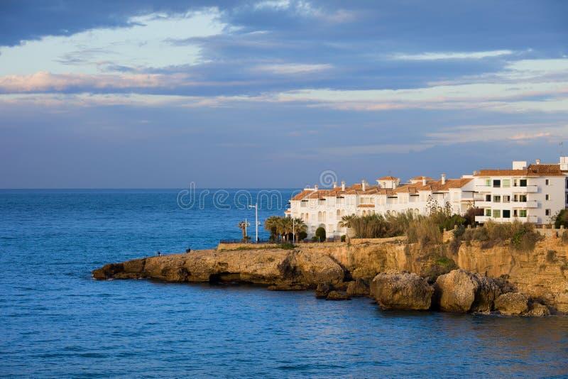Costa costa de Nerja en España fotografía de archivo libre de regalías