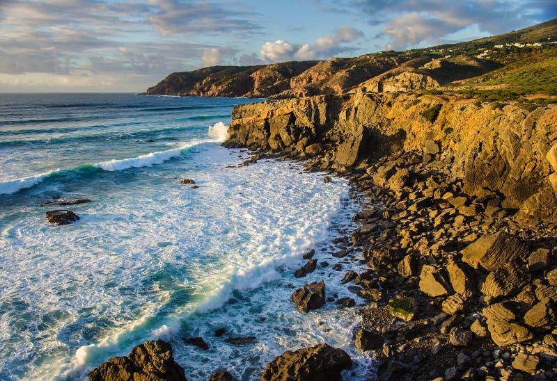 Costa costa de Sintra imagenes de archivo