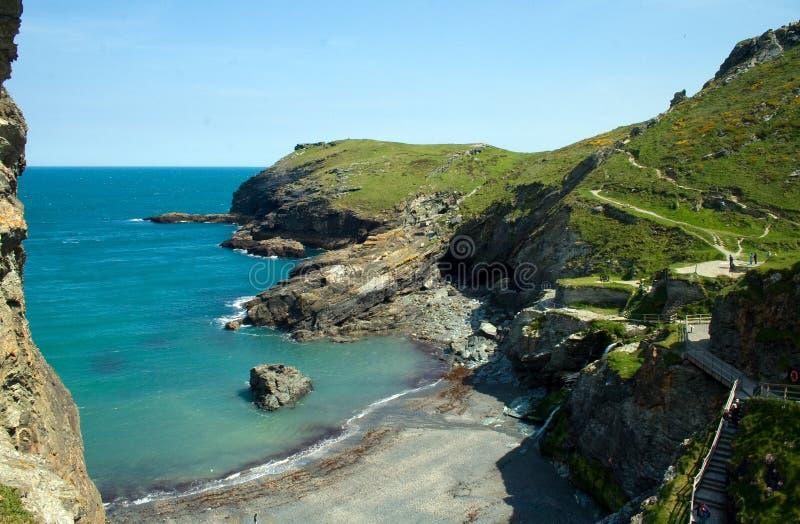 Costa costa de Tintagel fotos de archivo