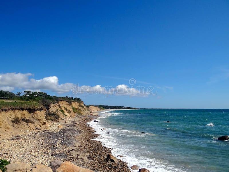 Costa costa del Martha's Vineyard imagenes de archivo