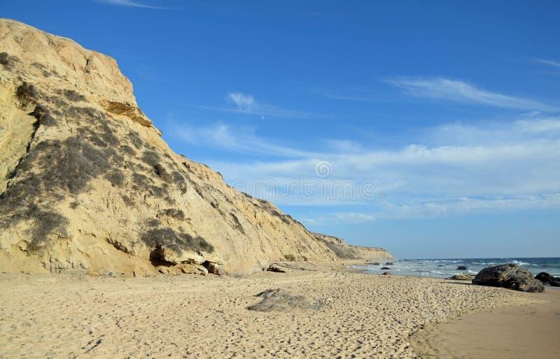 Costa costa en Crystal Cove State Park, California meridional imagen de archivo libre de regalías