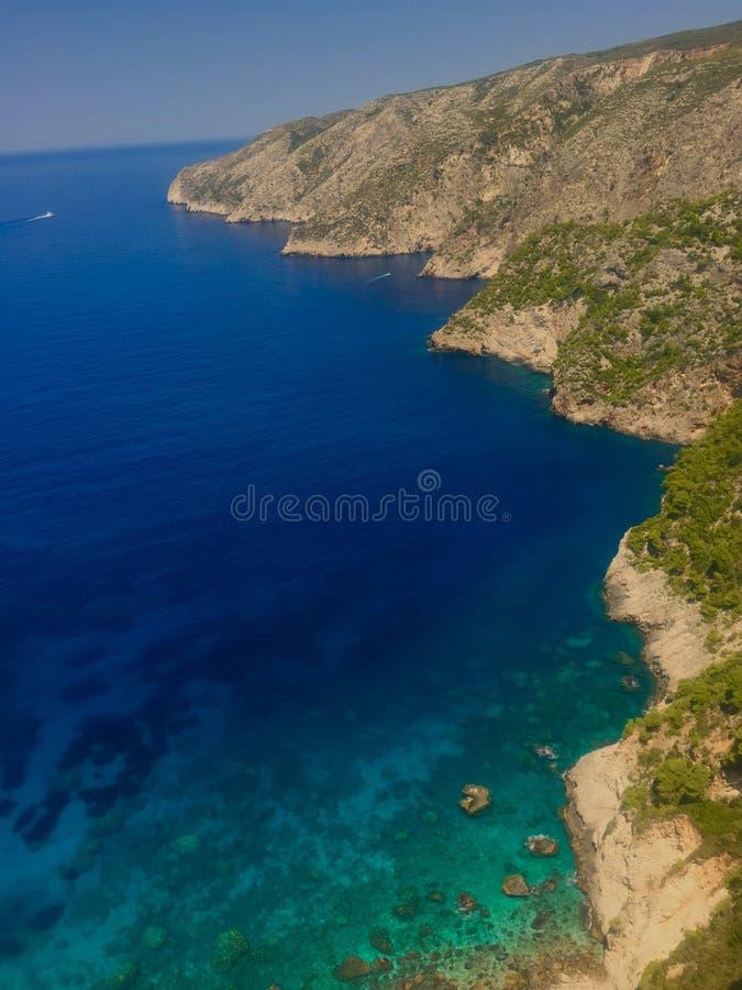 Costa costa en Grecia fotos de archivo