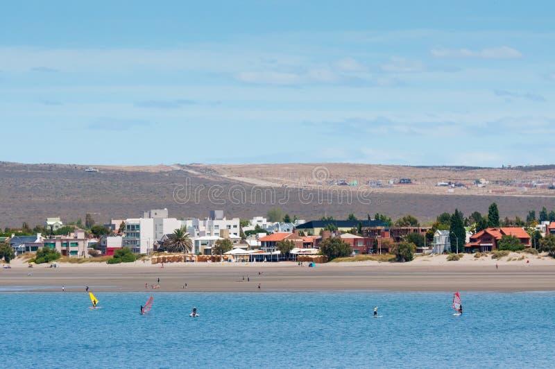 Costa costa en Puerto Madryn, la Argentina foto de archivo libre de regalías