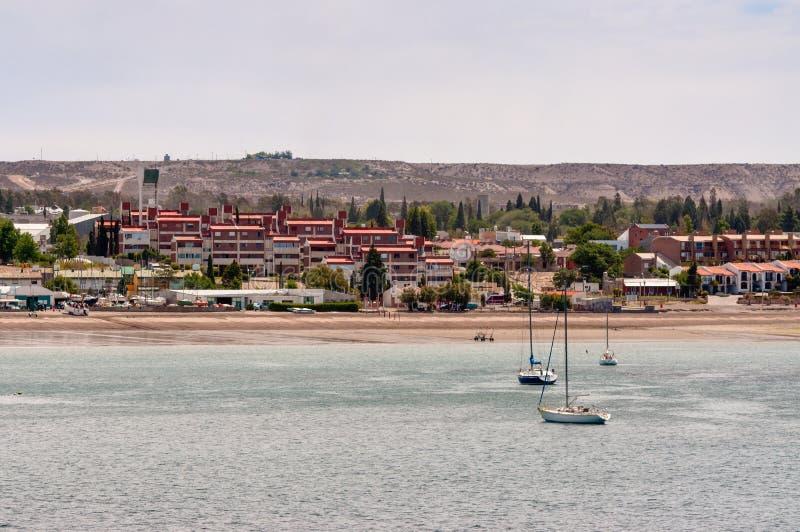 Costa costa en Puerto Madryn, Patagonia, la Argentina imágenes de archivo libres de regalías