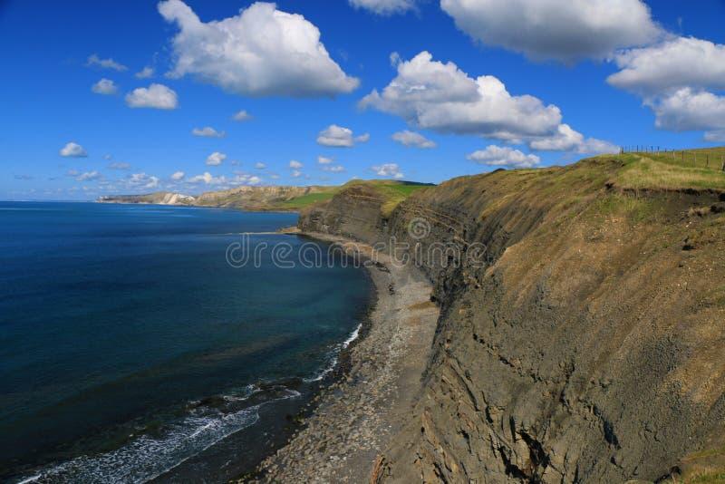 Costa costa jurásica, Dorset, Reino Unido fotografía de archivo libre de regalías