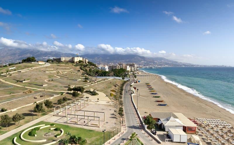 Costa costa mediterránea, Fuengirola (España) fotos de archivo