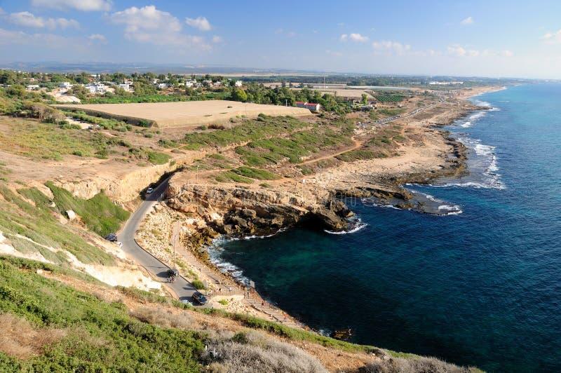 Costa costa septentrional israelí imagen de archivo libre de regalías