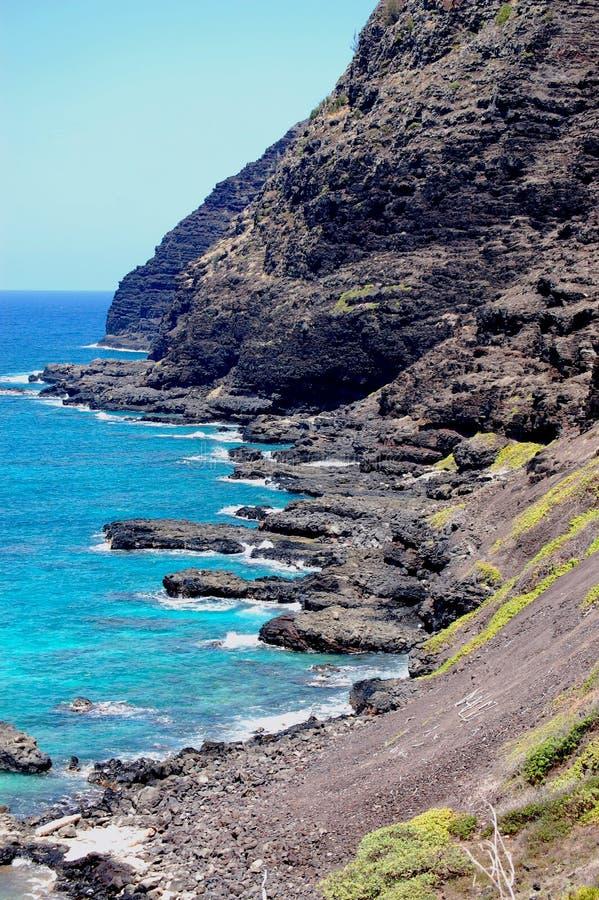 Costa costa tropical de Hawaiiâs fotografía de archivo