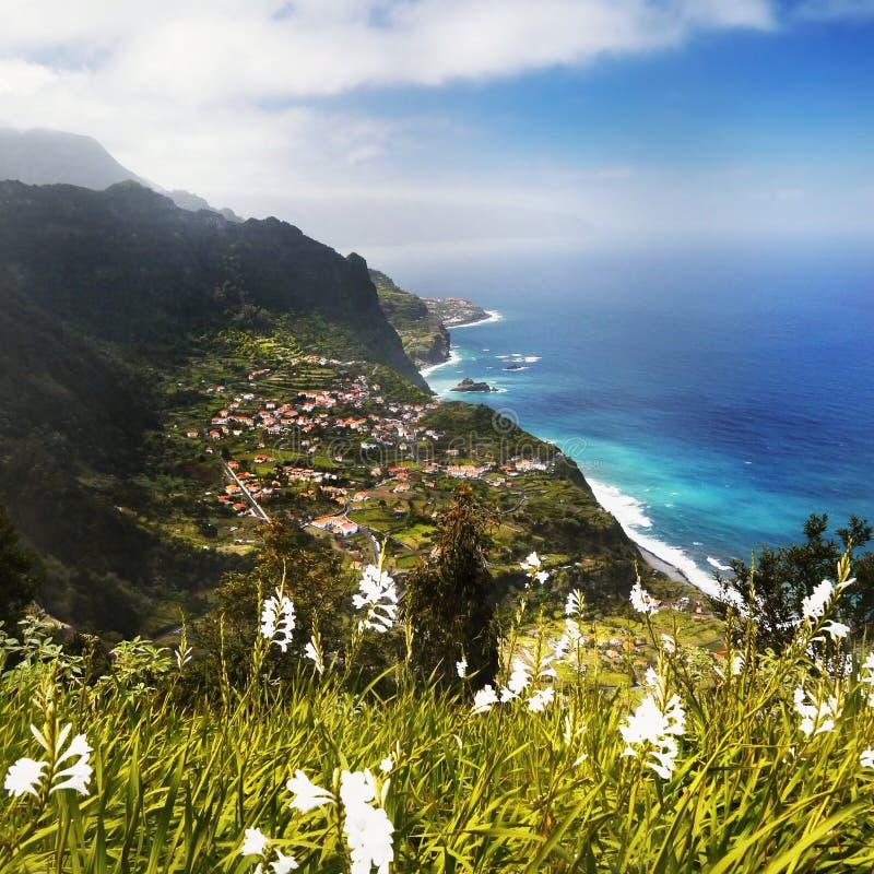 Costa da ilha de Madeira foto de stock