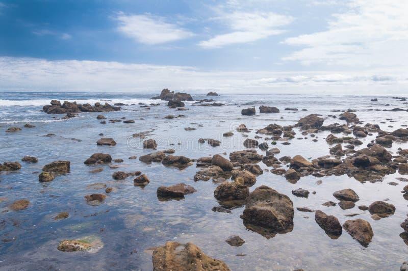 Costa da praia foto de stock
