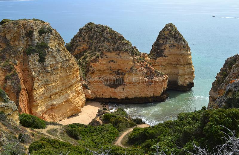 Costa de Algarve fotografía de archivo libre de regalías