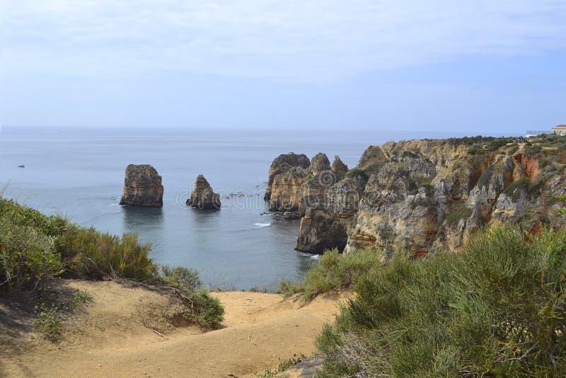 Costa de Algarve imagen de archivo libre de regalías