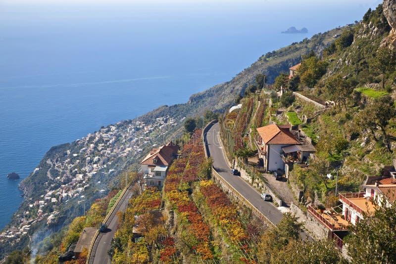 Costa de Amalfi foto de stock royalty free