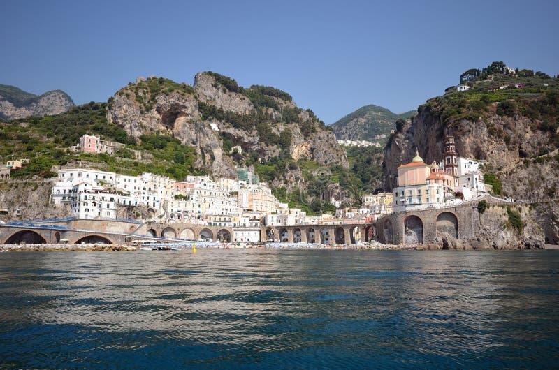 Costa de Amalfi, Atrani foto de archivo libre de regalías