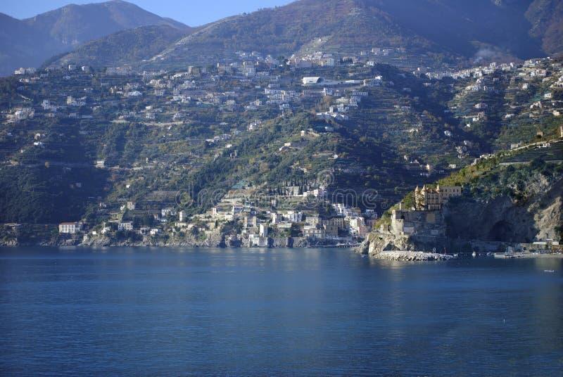 Costa de amalfi da vista foto de stock