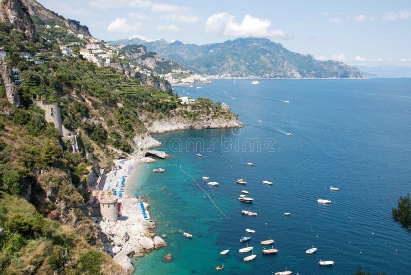 Costa de Amalfi, Itália foto de stock royalty free