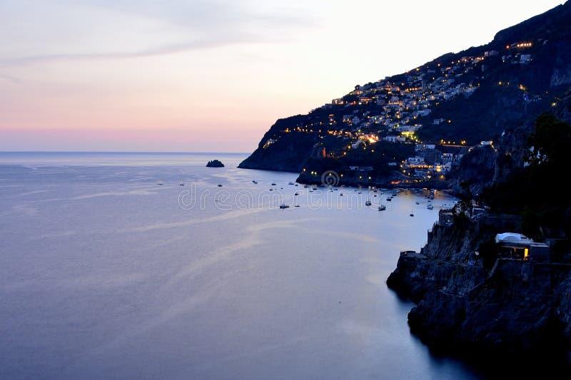 Costa de Amalfi - Praiano fotos de archivo