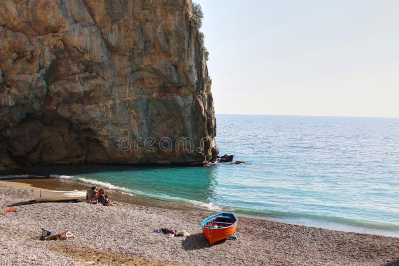 Costa de Amelfi em Itália imagens de stock