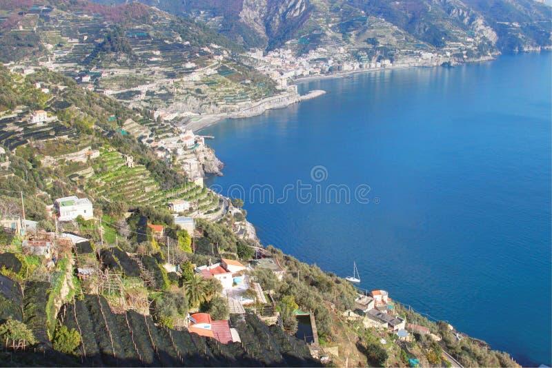 Costa de Amelfi em Itália foto de stock